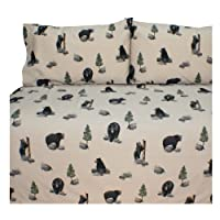 Blue Ridge Trading Unisex Bears Queen Sheet Set - 07175600012Brt