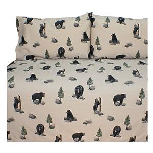 Blue Ridge Trading Unisex Bears Queen Sheet Set - 07175600012Brt