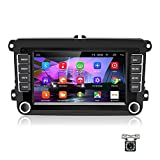 Android Car Navigation Car Radio for VW GPS Car Radio Bluetooth/Wifi/FM/AUX/USB, Car Entertainment Multimedia Radio with Mirrorlink for VW+12 LED reversing camera