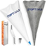 Grout Bag for Masonry and Tile Grouting - 2 Pcs Modern Grout Sealer with Pointing Tips for Mosaic Bricks Ceramic Small Joint-Heavy Duty Cement Concrete Mortar Applicator Tool Brick Jointer Included