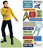 Star Trek Sulu Quotable Notable - Die Cut Silhouette Greeting Card and Sticker Sheet...