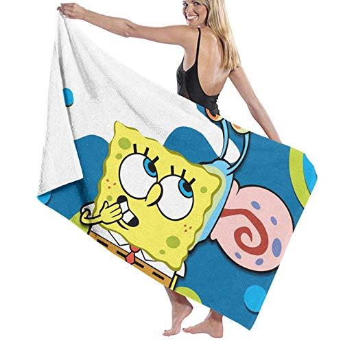 Bob Esponja toallas de playa ultra absorbente toalla de baño de microfibra picnic Mat para hombres mujeres niños