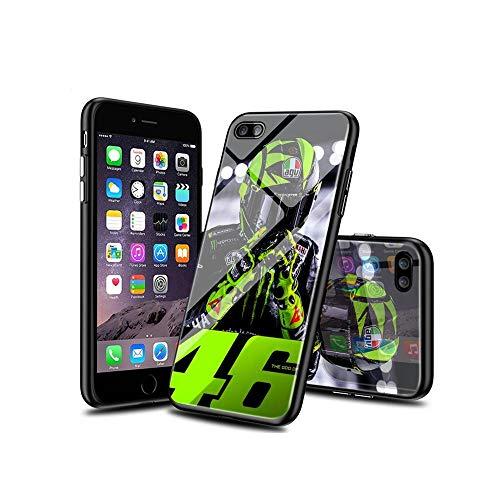 WuSzlON Compatible con iPhone 8 Funda, iPhone 7 Funda, Cristal Templado Delgado, Resistente a los arañazos, Suave Borde de TPU anticaídas para iPhone 8 / iPhone 7 B 004