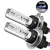 Womdee H7 Xenon HID Kit, H7 Scheinwerfer Lampe 6000K, 55W, H7 Auto Xenon Weiß, Super Bright Car Motorcycle Lamps, 2 Pack, Ballast