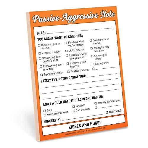 Knock Knock Passive Aggressive Nifty Note