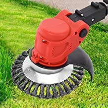 Decsix 8 Inch Grass Cutter Steel Wire Brush Cutter Trimmer Head - Weed Eater Attachments for String Trimmers, Rust Removal, Lawn Mower, Garden Weeding (Replacement Head, NOT Whole Weed Eater)