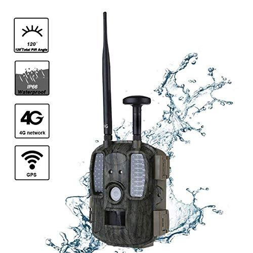 Wildlife Trail 4G Cámara de Caza de visión Nocturna Compatible con GPS MMS Cámara de Video Digital Rueda de Respaldo FTP Correo electrónico GPRS gsm Cámara de Vida Silvestre Trampas de Fotos