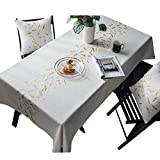 DreamyDesign Abwaschbar Tischdecke Eckig Wasserdicht Tischtuch Tischwäsche Pflegeleicht Garten Zimmer Tischdekoration Wachstischdecke Tischdeckenstickerei 135 × 200cm