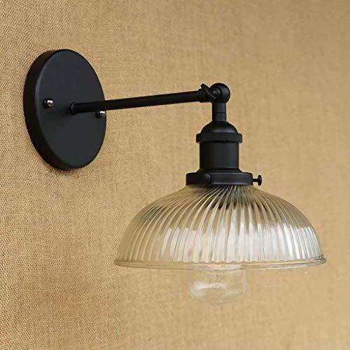 HYY-YY Hotel Cafe bar Living Room lámpara de pared, lámparas de decoración de la pared, lámpara de pared retro del vidrio industrial cubierta de la lámpara lámpara de pared del restaurante del dormito