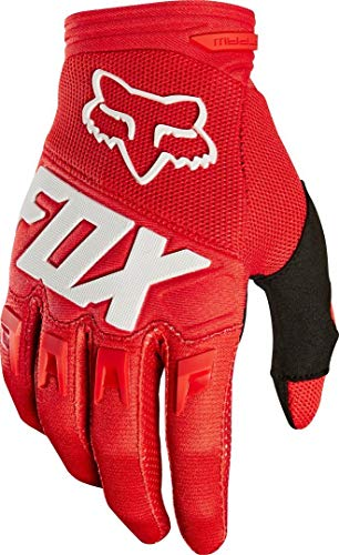 Fox Guanti Junior Dirtpaw Race, Rosso, Taglia yxs