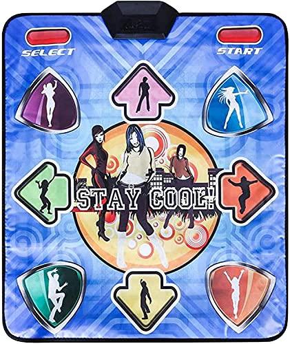 IOUYRRN Mats de Baile para niños Adultos, Pastilla de Baile para PC con Juegos y Canciones, Bailarina sin Deslizamiento Step Pads Stee Sense Game Musical Play Mat Dancer Manta con USB para conectarse
