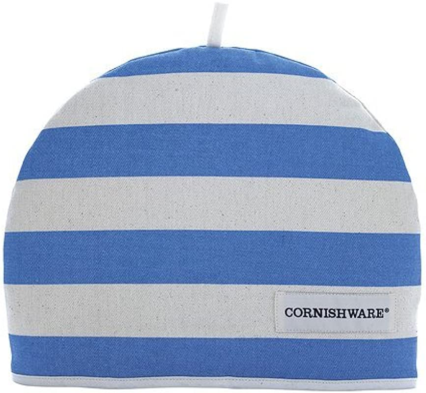 T G Cornishware Blue And White Striped Tea Cosy Cozie 7CNH04