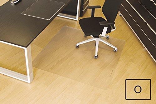 Transparente Bodenschutzmatte, 120 x 150 cm, aus Makrolon®, Schutzmatte für Parkett-, Laminat- & PVC-Böden, 17 weitere Größen und Formen wählbar