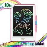 Newyes 10' Tableta de Escritura LCD | Tablet para niños con Trazos de colorines| Ideal como Pizarra Digital para Aprender a Leer, Escribir y para Manualidades | Juguete Educativo (Rosa)