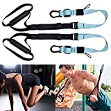 HLHBDSM Bodyweight Resistance Training Kit- Suspension Trainer Straps with Door Anchor, Extension Strap