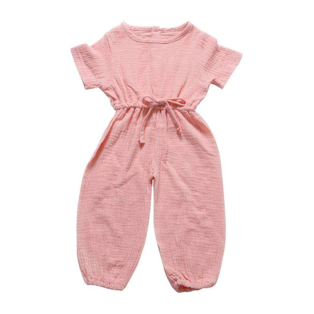 Janly Baby Clothes Sests Toddler Baby Kids Girls Summer Rainbow Backless Romper Jumpsuits Clothes Sunsuit