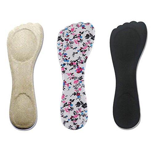 Bringsine Velvety Insole for High Heels, Gel Shoe Insoles for Women Provide Heel Pain Relief, Comfortable Heel Inserts, Plantar Fasciitis, Heel Spurs, 3/4 High Heel Pain Relief Insoles Shoe Pads