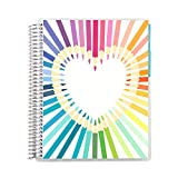 7' x 9' Teacher Rainbow Heart Record Book. Communication Logs and Student Checklists Layouts with Lined and Graph Sections for Writing and Note Taking by Erin Condren.