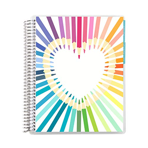 "Erin Condren Teacher Record Book - Rainbow Heart, 7""x9"""