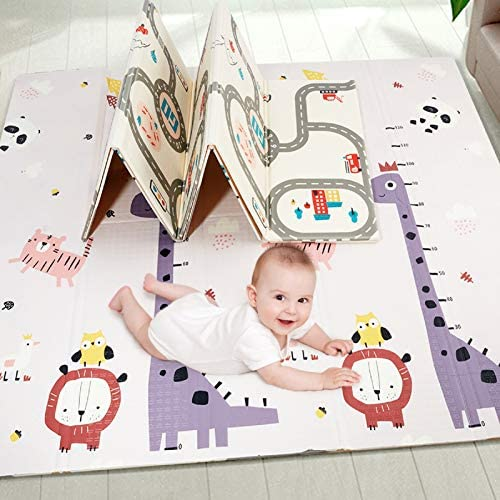 Baby Play Mat Extra Large Baby Crawling Mat Portable Waterproof Non Toxic Soft Foam Anti Slip product image