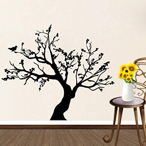 PSpXU Vogel Big Tree Wandaufkleber Vinyl Art Aufkleber Wandbild Wohnzimmer Esszimmer Abnehmbare Wandaufkleber Home Decoration Wallpaper80x95cm
