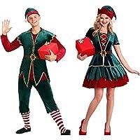 QIRUNメンズ サンタクロース 衣装 帽子 ベルトコスプレ 長袖ワンピース 仮装 変装 コスチューム クリスマス