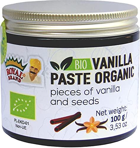Pasta de vainilla Bio / Ecológica / con trozos de vainilla y semillas de vainilla / 100 g