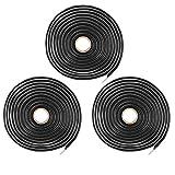 X AUTOHAUX 3pcs 20ft Butyl Sealant Tape Sealing Rope for Car Truck RV Headlight Window Door Windshield 20'x1/2''x1/4''