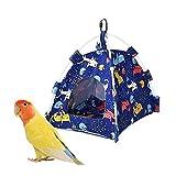 Fautly Hamaca colgante para pájaros, para loros, jaula de cueva, para acurrucarse, para periquitos, cacatúas, cacatúas, tortolas, proveedores de mascotas