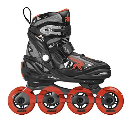 Roces Boys' Moody TIF Inline Skates, Black-Red, 30-35