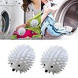 1 bola de lavado, reutilizable, para lavar y secar productos de lavandería en seco (color: blanco)