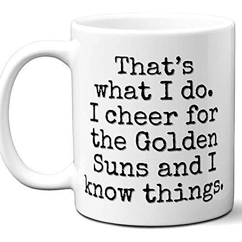 Golden Suns Gifts for Men Women.Cool Idea regalo divertente unica Tazza da sole Golden Suns per gli appassionati di sport per appassionati. Calcio hockey Father 'S Day Christmas,11 oz