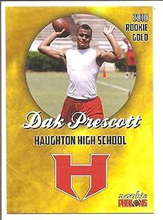 5a57ad00811 Dak Prescott Haughton High School 2016 Rookie Phenoms Gold Rookie Football  Card