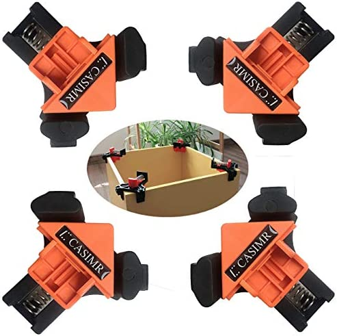 C CASIMR 90 Degree Corner Clamp 4PCS Adjustable Single Handle Spring Loaded Right Angle Clamp product image