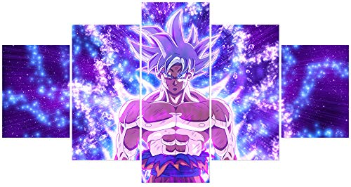 Hunbeauty art Dragon Ball Z Poster Goku Wall Art Decor Anime Manga stampe su tela senza cornice