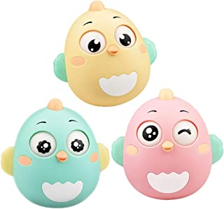 STOBOK Chick Shape Tumbler Doll Roly-Poly Toys Infant Baby Rattle Early Development Toys - Size L (Random Color)