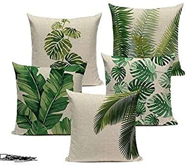 ROYAL TREND® Set of 5 Decorative Hand Made Jute Throw/Pillow Cushion Covers - (16 X 16 INCHES) n