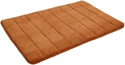 Bath mats for Bathroom CDZXMM Bathroom Mat, Bathroom Rug, Absorbent Carpet, Furry Memory Foam, Bathroom Mat, Kitchen Floor 40x60cm Khaki