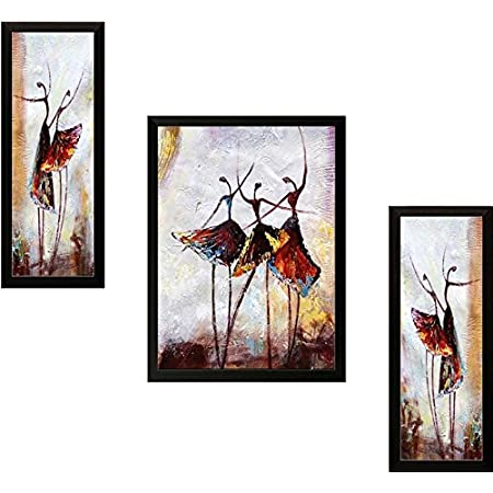paintings villa Abstract Paintings for Home Living Room Bedroom and Office - Framed Modern Art Set of 3
