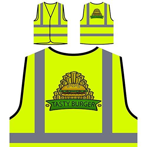 El mejor restaurante de Burger Food House Chaqueta de seguridad amarillo personalizado de alta visibilidad d631v