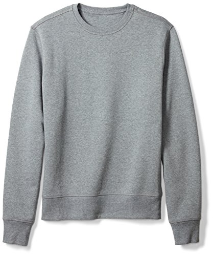Amazon Essentials Men's Long-Sleeve Crewneck Fleece Sweatshirt, Light Grey Heather, Medium