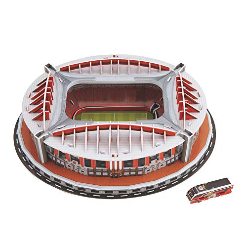 Slyvdark 3D-Puzzle Architektur, weltbekanntes Architekturmodell Pappe, Holzspielzeug Kinder Erwachsene Schwierige Montage Modell (Benfica Stadion, Spanien)