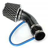 """2.5""""-3.0"""" Universal Car Cold Air Intake Filter Induction Kit Pipe Hose System"""