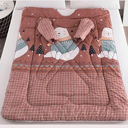 SMEJS Manta multifunción Amantes Invierno cálido Suave Traje de Manga Larga Estampado Colcha Espesa luz niños Adultos Manta (Color : Style Three)
