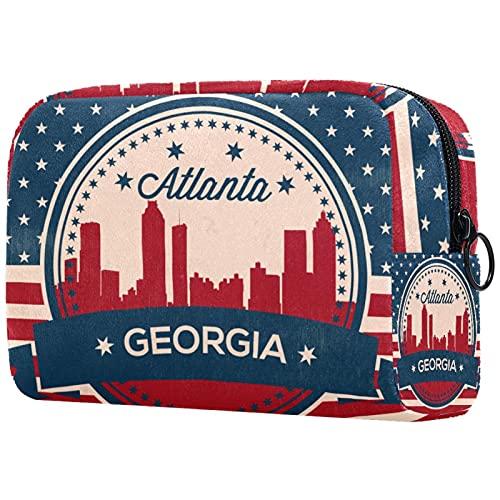 Regalos para Hombres, Mujeres, Neceser de Maquillaje, Neceser pequeño, Neceser - Georgia State Atlanta Sky Line