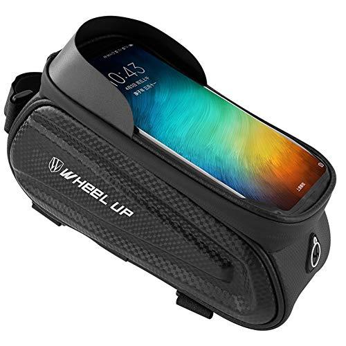SZKP Bolsa para Manillar De Bicicleta Soporte para Teléfono para Bicicleta Resistente Al Agua Marco para Bicicleta Pantalla Táctil Funda para Teléfono para Teléfono Inteligente Menos De 7 Pulgadas