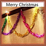 YINGGG 6Pcs 2M 6.5Ft Natale Tinsel Garland, Riflessi Classici Spessi Colorati Lucido Sparkly Soft Party Hanging Tinsel Ornamenti Soffitto Decorazioni Albero di Natale, 6 Colori