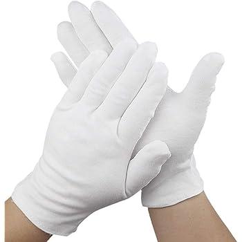 Care Wear Guantes Blancos De Algodón Tamaño Medio Para Eccema, Piel Seca, e Hidratante - 20 Guantes: Amazon.es: Belleza