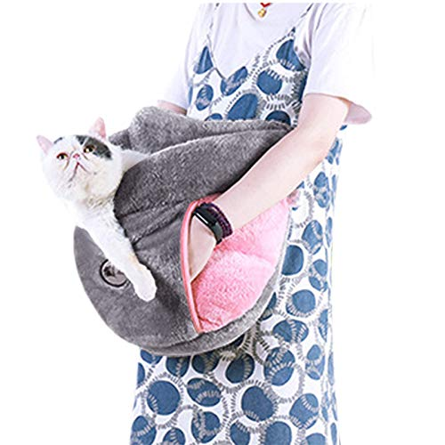 JINTN Slipper Shaped Pet Bed Half Covered Cuddle Pet Nest Universal Kitty Cat Bed Puppy Dog Bed Outdoor Arm Holding Pet Sleeping Bag Soft Cushion Pad