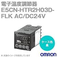 オムロン(OMRON) E5CN-HTR2H03D-FLK 電子温度調節器 プログラムタイプ 端子台タイプ 単相ヒータ用 AC/DC24V ブラック (リレー出力) NN